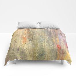 Streaks of Sunset Raining Down: Abstract Art Comforters