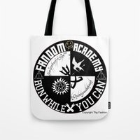 fandom Tote Bags featuring Ultimate Fandom Academy by Thg Fashion