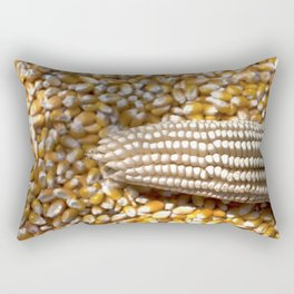 Golden Yellow Corn Rectangular Pillow