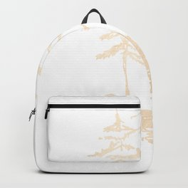 Three Sisters Forest White Gold Trees Backpack