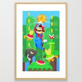 Plumber punch Framed Art Print