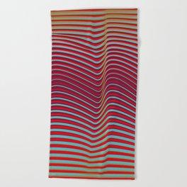 OpArt WaveLines 2 Beach Towel