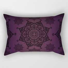 Violet & Black Mandalas Rectangular Pillow