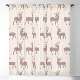 Mid Century Modern Deer Pattern Beige 3 Blackout Curtain