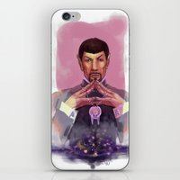 spock iPhone & iPod Skins featuring Spock by Tsuru