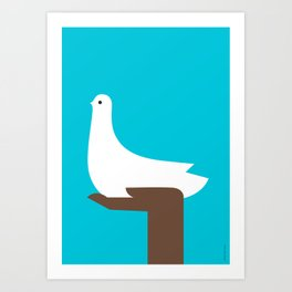 White dove of peace Art Print