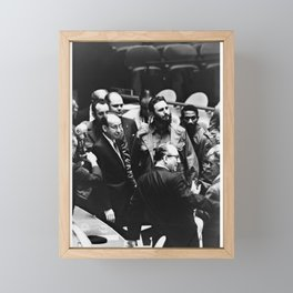 Fidel Castro UN General Assembly 1960 Framed Mini Art Print