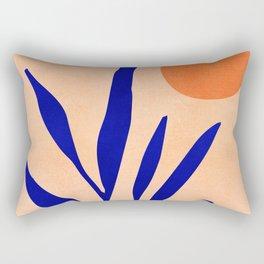 Golden Afternoon II / Abstract Landscape Rectangular Pillow