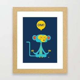 OM! Monkey Framed Art Print