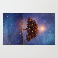 lights Area & Throw Rugs featuring Energy & lights by Viviana Gonzalez