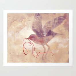 The red string Art Print