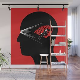 One Man Movie Theatre Wall Mural