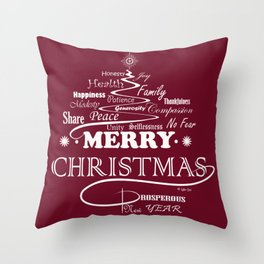 The Wishing Christmas Tree Throw Pillow