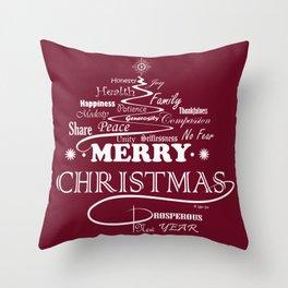 The Wishing Christmas Tree Throw Pillow