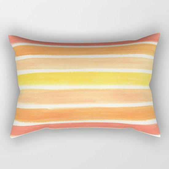 Orange Striped Abstract Rectangular Pillow