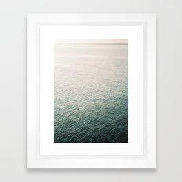"Coastal beach photography ""Free as the ocean""   Modern wall Art Sea Ibiza Framed Art Print"