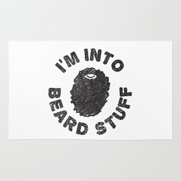 i'm into beard stuff Rug