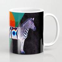 zebra Mugs featuring Zebra by Ali GULEC