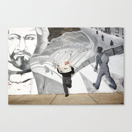News Paper & Graffiti! Canvas Print