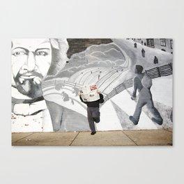 News Paper & Graffiti! Canvas Print