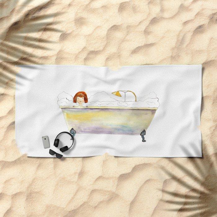 Bath time Beach Towel