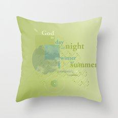 God is #everyweek 5.2017 Throw Pillow
