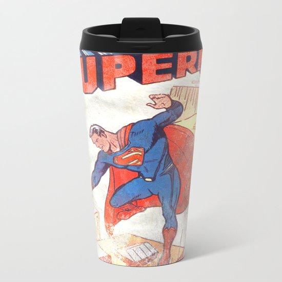 Superman Poster Metal Travel Mug