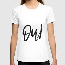 Oui Oui Poster, Typography Art Poster, Typography Print, Printable Art, Art Prints T-shirt