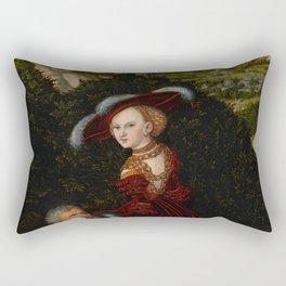 "Lucas Cranach the Elder ""Phyllis and Aristotle"" Rectangular Pillow"