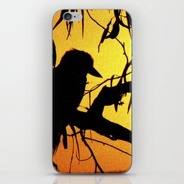 Kookaburra Silhouette Solstice Sunset iPhone Skin