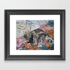 kitties Framed Art Print