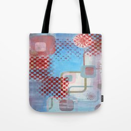 Checked Background Tote Bag