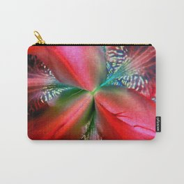 Red Ornate Burst - Inverted Art Carry-All Pouch