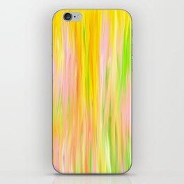 Yellow Sunshine Abstract Oil Painting iPhone Skin