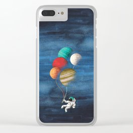 Astronaut Balloons Clear iPhone Case