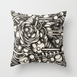 HeadAche_2 Throw Pillow