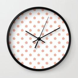 Polka Flower Spring Dots Wall Clock