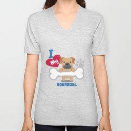 Boerboel Cute Dog Gift Idea Funny Dogs Unisex V-Neck