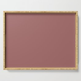 Blush Gold Coppery Pink Solid Color Serving Tray