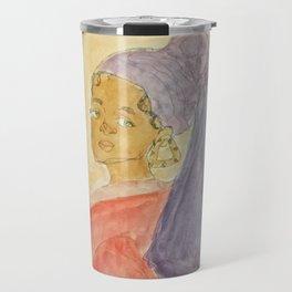 Girl with Bamboo Earring Travel Mug