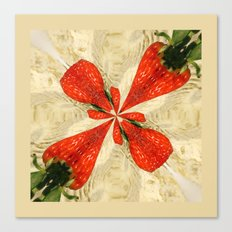 Strawberries square Canvas Print