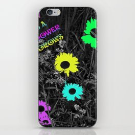 Nobody Knows a Wildflower Sill Grows Lyrics iPhone Skin