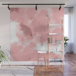 Pink Abstract  Wall Mural