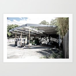 Abandoned Gas Station. Sydney. Australia. Art Print