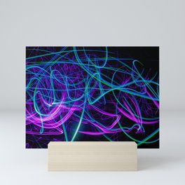 Abstract blue and purple light effect Mini Art Print