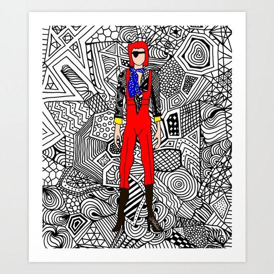 Bowie Fashion 4 Art Print