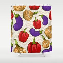 Cute vegetable pattern Shower Curtain