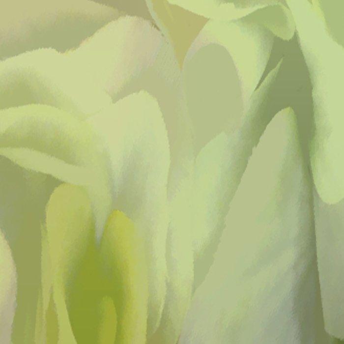 Soft Green Petal Ruffles Abstract Leggings