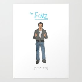 The Fonz Art Print