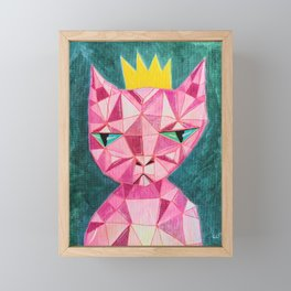 Crystal Kitty - Painting Framed Mini Art Print